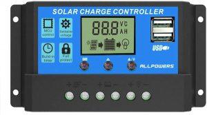 ALLPOWERS 20A Contrôleur Chargeur Solaire Régulateur Panneau Solaire Intelligent