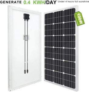 ECO-WORTHY 100w 12v panneau solaire polycristallin