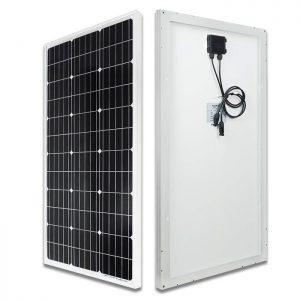 ECO-WORTHY Panneau Solaire Monocristallin 100 W 12 V