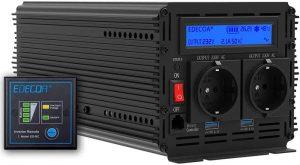 EDECOA Inverter 2000w convertisseur de tension 24v 230v