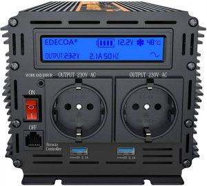 EDECOA convertisseur 12v 220v pur sinus 1500w