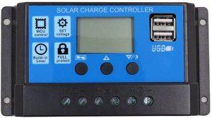 SODIAL 10A 12V 24V PWM Controleur de charge solaire