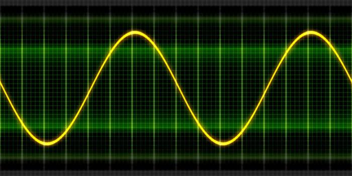 Courbe de courant sinusoidale