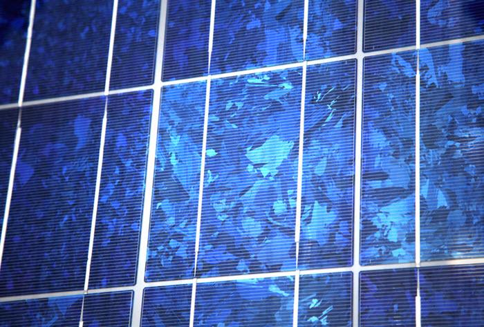 Panneau solaire polycristallin