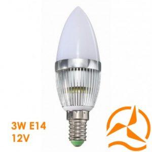 Ampoule LED 3W 12V E14 dissipateur thermique aluminium ultra économique blanc