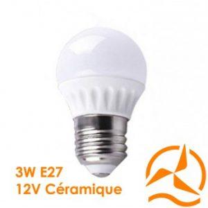 Ampoule LED 3W 12V E27 dissipateur thermique céramique ultra économique blanc