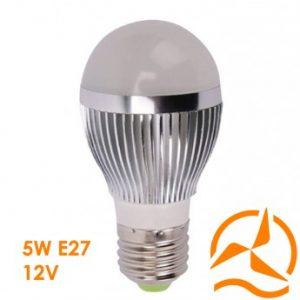 Ampoule LED 5W 12V E27 dissipateur thermique aluminium ultra économique blanc