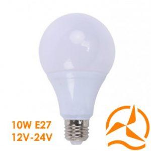 Ampoule LED 9W 12V-24V Blanc Chaud culot E27 3000K 850 Lumens