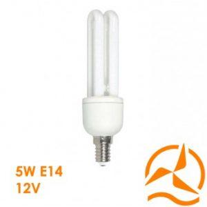 Ampoule fluocompacte 12 Volts 5 Watts culot E14