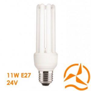 Ampoule fluocompacte 24 Volts 11 Watts culot E27