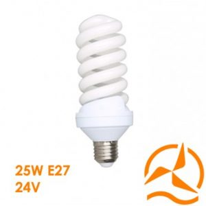 Ampoule fluocompacte 24 Volts 25 Watts culot E27