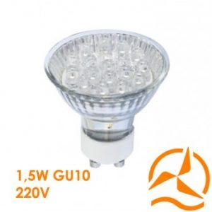 Ampoule spot 21 LEDs 220 Volts culot GU10 éclairage blanc