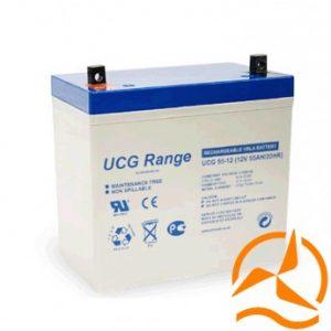Batterie Gel 12 Volts 55 Ah cyclage profond