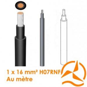 Câble électrique souple 1 x 16 mm² vendu au mètre H07RN-F