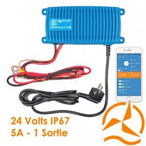 Chargeur de batterie Blue Smart IP67 24V 5A un sortie de charge - Victron Energy
