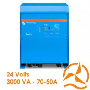 Convertisseur de courant et Chargeur de batterie Quattro 24V 3000VA 70-50/50A - Victron Energy