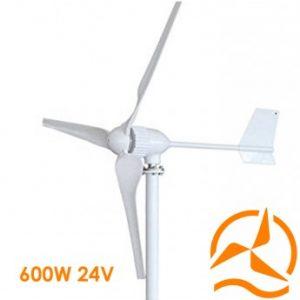 Eolienne 24 Volts 600 Watts complète nouvelle génération