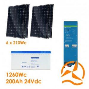 Kit autoconsommation solaire 3780 Wh/j