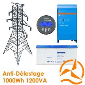 Kit back-up 1000Wh - Contre délestage et coupures intempestives