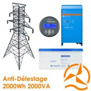 Kit back-up 2000Wh - Contre délestage et coupures intempestives