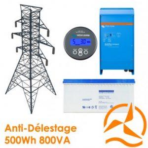 Kit back-up 500Wh - Contre délestage et coupures intempestives
