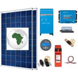 Kit solaire Afrique autoconsommation 1500 à 3500 Wh/j avec batteries plomb pur Enersys