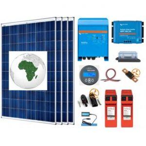 Kit solaire Afrique autoconsommation 3000 à 5000 Wh/j avec batteries plomb pur