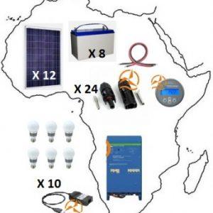 Kit solaire complet Afrique 10 920 Wh à 15 600 Wh Très Haute Puissance