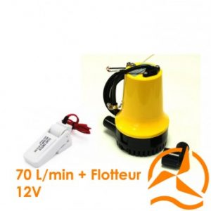Kit vide cave ou vide cale 70 L/min avec flotteur