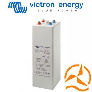 Lot de 6 batteries ouvertes OPzV Gel 2 Volts 600 Ah très longue durée de vie Victron Energy