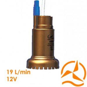 Pompe submersible 12 Volts 19 L/min 1 bar max 8