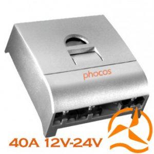 Régulateur Phocos 40 Ampères 12-24 Volts programmable et fonction crépusculaire CX40