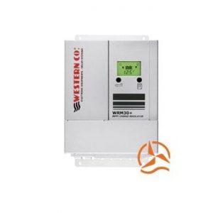 Régulateur de charge MPPT 30 Ampères 12-24-48 Volts avec afficheur LCD et détecteur crépusculaire