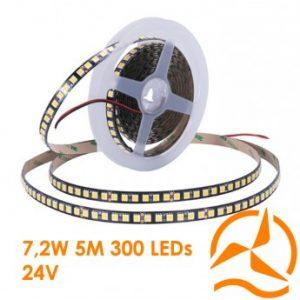 Rouleau lumineux à LED 24V DC SMD 3528 – 5m 300 LEDs – éclairage très haute qualité