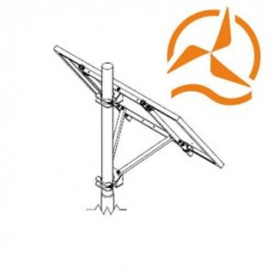 Structure de fixation pour panneau solaire sur mât