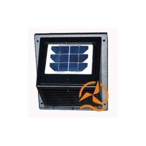 Ventilateur aérateur solaire de façade 60m3/h nuit et jour avec batterie et panneau solaire amovible